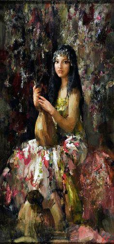 Nikolai Blokhin Sheherazada 79x39.5 in, oil on canvas, 2012