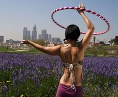 Hula-Hooping: Hula-hooping is a fun way to get rid of pesky love handles and helps with posture and balance. To get hooping like celebs Marisa Tomei and Beyonce, buy yourself a weighted hula-hoop and check out HoopClass, HoopGirl, or Hoopnotica. Source: Hoopnotica