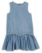Chloe Toddler's, Little Girl's & Girl's Denim-Effect Drop-Waist Dress