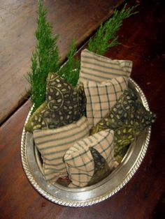Balsam sachets---Balsam Fir is grounding, stimulating to the mind and relaxing to the body. The simple inhalation of Balsam Fir is shown to reduce cortisol levels by 40%. ---http://www.boomershealthblog.com/the-magic-of-idaho-balsam-fir.htm