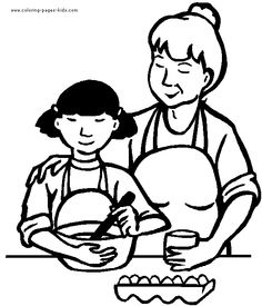 coloring pages of mom on couch | Family coloring pages | Convention ...