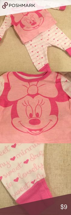 Minnie Mouse Pjs Minnie Mouse 2 piece set. Used still in good condition with slight fading. Adorable💖 Disney Pajamas Pajama Sets