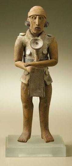Standing Male Figure with Left Hand on Right Wrist. Maya,   Lot #47007   Heritage Auctions