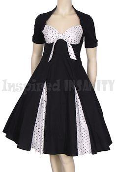 I really really really want this PINUP POLKA DOT PEEP SPLIT 50S SWING DRESS