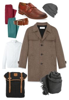 """""""Man's casual"""" by themillcake on Polyvore featuring Lands' End, Valentino, J Shoes, Brunello Cucinelli, Yves Saint Laurent, Outdoor Research, Faliero Sarti, Fjällräven, men's fashion и menswear"""