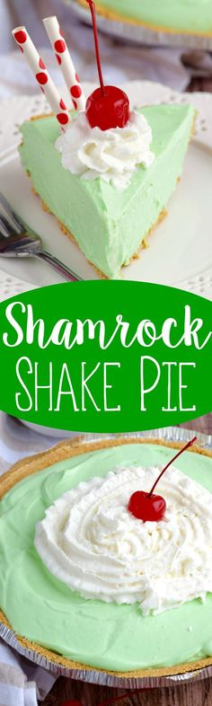 This Shamrock Shake Pie is as easy as it is TOTALLY delicious.  Make it.  Now.: