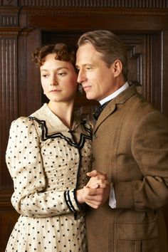 Lydia Wilson and Linus Roache, The Making of a Lady - I loved these two together. Their story was so sweet. Absolutely love this movie! Such a nice love story. :)