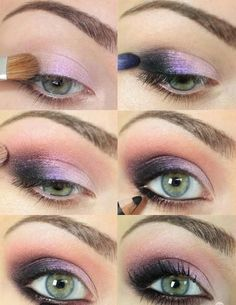 Purple Eye Makeup- that's my exact eye color, I must try this.