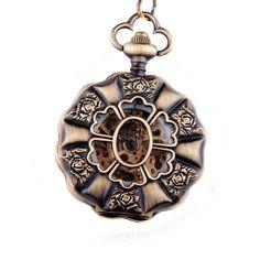 Steampunk Rose Pocket Watch
