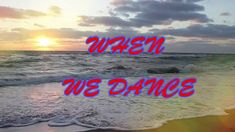 Love is a dance! Dance is love! When you dance with your loved one, feel like you're floating and everything around you dancing! Dance With You, When Us, Neon Signs, Songs, Love, Feelings, Amor, Song Books