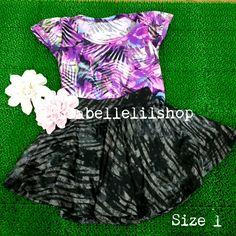 Gorgeous Purple and Black Skater Skirt for Kids!