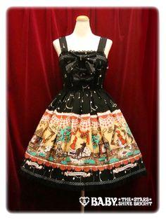 Baby, the stars shine bright My little red riding hood polka dot ribbon jumper skirt