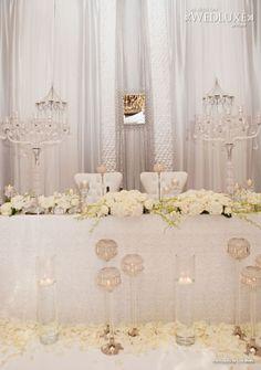 WedLuxe: a wonderful #white #wedding