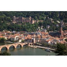 Philosophenweg, alte Brücke, Schloss Heidelberg, traumhafte Fototapete von Heidelberg, Merian, Fotograf: A. F. Selbach