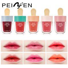 PNF Hot Sale Ice Cream Lip Gloss Makeup Lips Kiss Proof Long Lasting Lip Stick Matt Pigment Pink Red Jelly Lipsticks Make Up. Lip Makeup, Beauty Makeup, Dear Darling Tint, Jelly Lipstick, Red Jelly, Kiss Proof, Lip Tint, Lip Gloss, Like4like