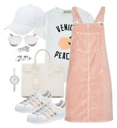 """""""Untitled #3318"""" by theaverageauburn ❤ liked on Polyvore featuring Être Cécile, Topshop, Yves Saint Laurent, adidas, Victoria Beckham, DKNY and Sole Society"""