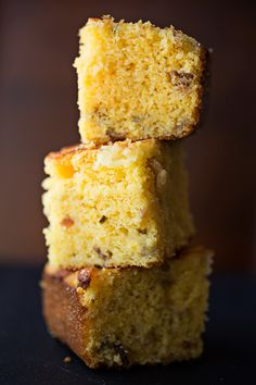 Cornbread with Crispy Bacon, Caramelized Onions and Jalapeno-Jack Cheese