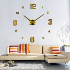 Jam Dinding Big Size Gold | Fine Arloji