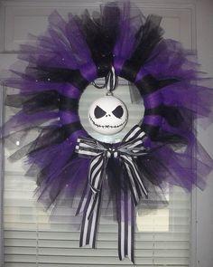 Purple and Black Glitter Tutu Wreath with bonus by WheneverWreath