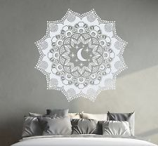 Bohemian Wall Decal Mandala Sticker Moon Decals Bedroom Window Decor DR7