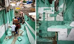 floating graffiti participatory favela project by boa mistura