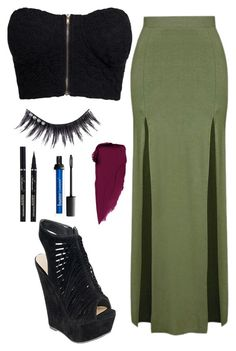 """""""Untitled #109"""" by missunicornpatch on Polyvore featuring NLY Trend, Topshop and Manic Panic NYC"""