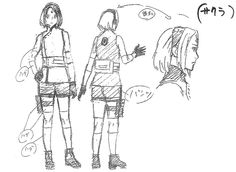 "New sketches from ""Naruto - The Last Naruto Movie""  Sakura"