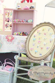 Like the frame for Ann's hair flowers. Craft show idea.