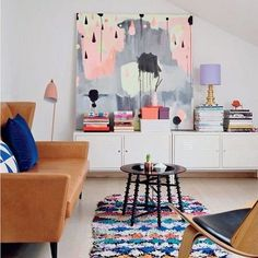 Moroccan Boucherouite Rug via @feminadk ❤️ #instacurated | PS. Check out curatedinterior.com tomorrow for twelve rooms featuring stellar artwork!