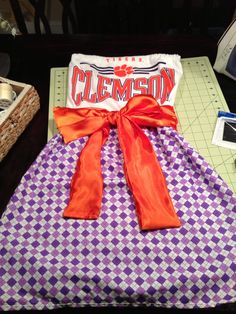 Clemson Tigers gameday dress By Cotton Couture