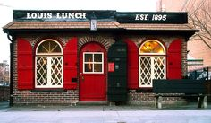Louis' Lunch - The Birthplace of the Hamburger Sandwich, just don't ask for ketchup or mustard, lol!