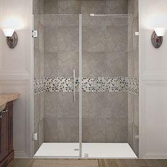 Aston Nautis 54-inch x 72-inch Completely Frameless Hinged Shower Door - Overstock™ Shopping - Big Discounts on Aston Shower Doors