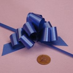 Royal Blue Pull String Bow, 2' *** For more information, visit image link.