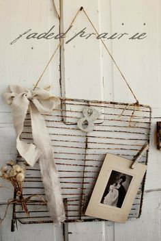 Even an old rusty wire rack can be transformed into a place to hang and display your lovelies!