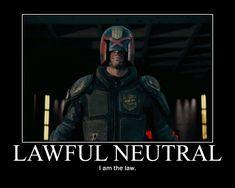 Lawful Neutral Judge Dredd by 4thehorde.deviantart.com on @DeviantArt