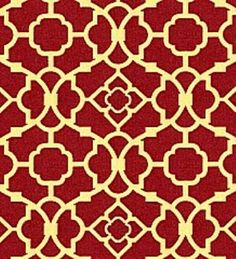 Red lattice print. I think I just found my kitchen curtains.