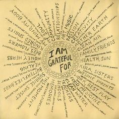 I am grateful for ....