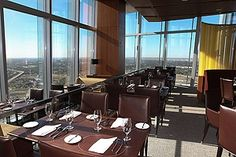 Enjoy fine dining with a bird's-eye view at Vast, located on the 50th floor of the Devon Tower in Oklahoma City.