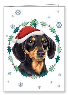 Dachshund Christmas Cards / Stationary