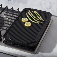 Free Shipping.  Shop Reversible Ceramic Double Griddle.  Transform your indoor gas or electric cooktop into a grill with this heavy-duty, reversible pan featuring a revolutionary ceramic nonstick finish.