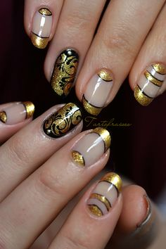 Nail art - Page 3 Nail Art Doré, Cool Nail Art, Nail Arts, Beautiful Nail Art, Gorgeous Nails, Pretty Nails, Hot Nails, Hair And Nails, Nail Art Designs