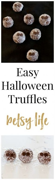 Easy Halloween Truffles. A simple halloween dessert recipe that's more treat than trick!