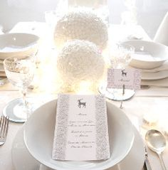 White Winter Wonderland Christmas Holiday Tablescape