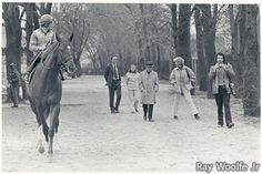 The immortal SECRETARIAT. Is that Steve Haskin with the camera?