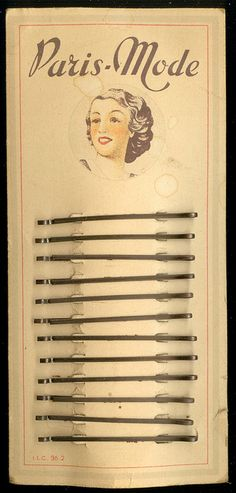 Vintage Paris-Mode hairpins
