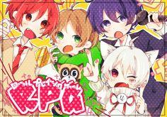 Soraru, Mafumafu, Urata and Aho no sakata Vocaloid, Chibi, Cover Songs, Cute Anime Guys, Fanart, Original Song, Boy Art, Japanese Artists, Anime Couples