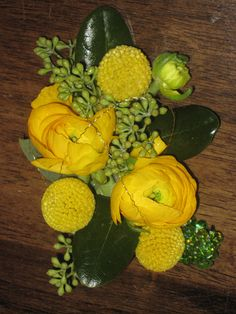 Yellow Ranunculus Corsage by BranchingOutCo, via Flickr