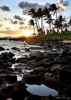 Island Sunset - Kauai, Hawaii