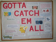 Pokemon fact board to go with my Pokemon door decs