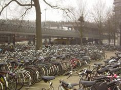outside the train station, amsterdam, holland